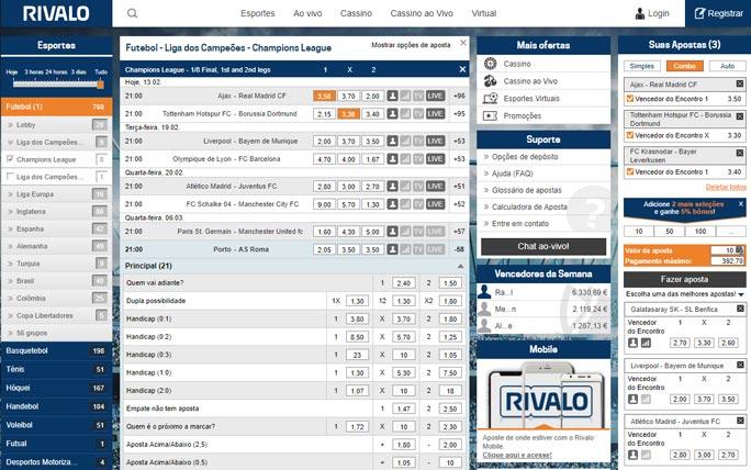 Rivalo app melhor bônus 63358