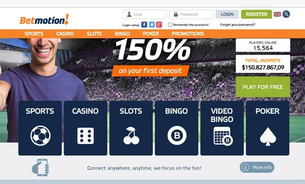 Betmotion bonus online legalização 16967