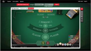 Primeira aposta online bacara 59007