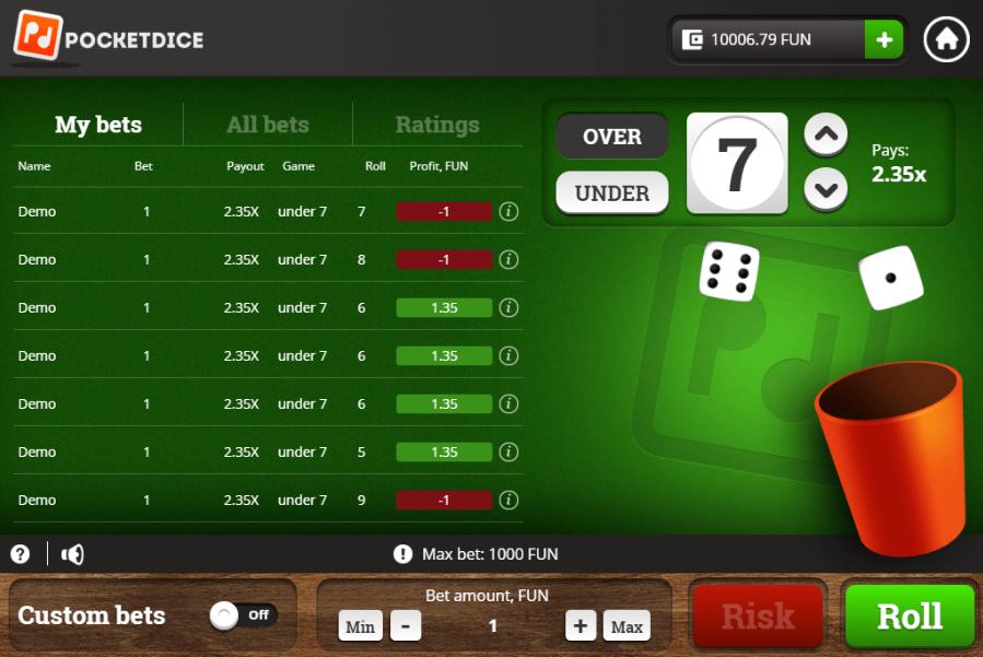 Casinos pocketdice dinheiro real 18974