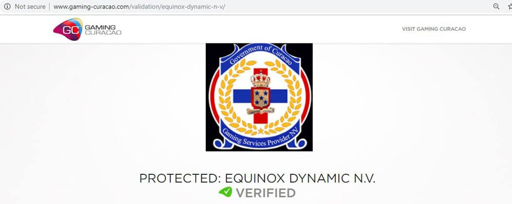 Licença Curaçao 35646