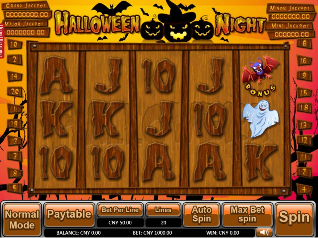 Halloween caça níquel 65734