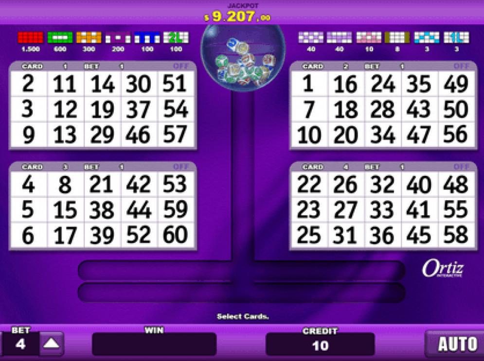 Jokerball vídeo bingo 18365