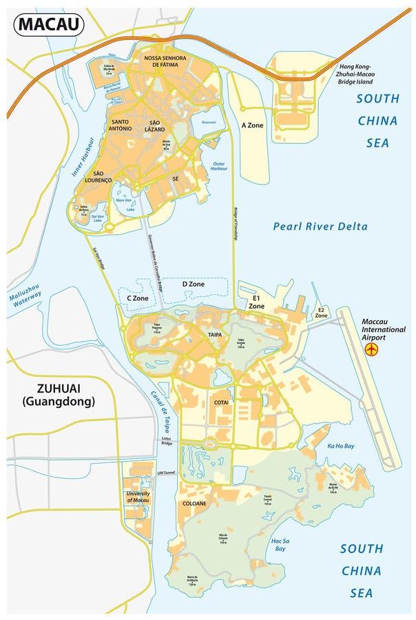Macau mapa 34014
